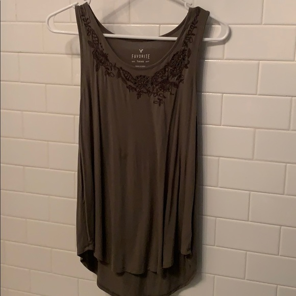 American Eagle Outfitters Tops - American Eagle Dark Green Tank
